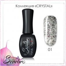 Serebro Гель-лак Crystal №01 11 мл.