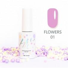 HIT gel Гель-лак №01 Flowers, 9 мл