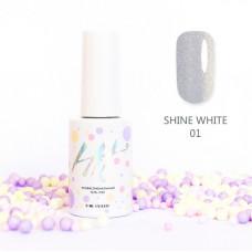 HIT gel Гель-лак №01 Shine White, 9 мл