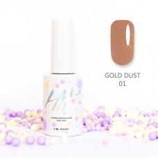 HIT gel Гель-лак Gold dust №01, 9 мл