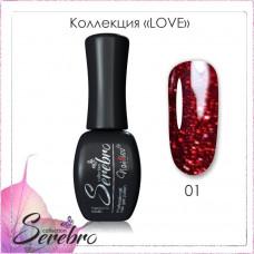 Serebro Гель-лак LOVE  №01 11 мл.