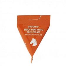 Крем для лица с лошадиным жиром AYOUME ENJOY MINI MAYU Face Cream, 3г