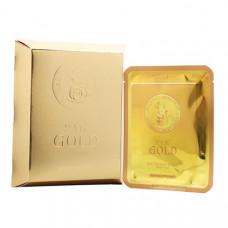 АКЦИЯ -50% Маска для лица тканевая Elizavecca с золотом и муцином улитки