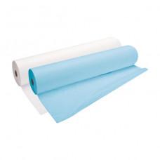 Простыни 70*200 в рулоне СМС голубые