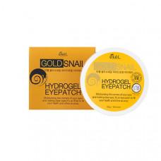 Патчи гидрогелевые под глаза EKEL с муцином улитки и золотом  Hydrogel Eye Patch Gold Snail 60 гр.