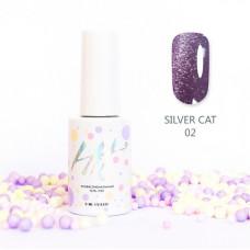HIT gel Гель-лак №02 Silver cat, 9 мл