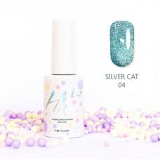 HIT gel Гель-лак №04 Silver cat, 9 мл