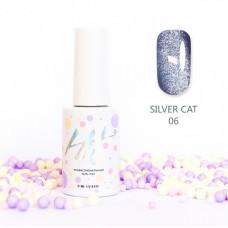 HIT gel Гель-лак №06 Silver cat, 9 мл