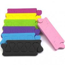 Разделители пальцев цветные 100 пар