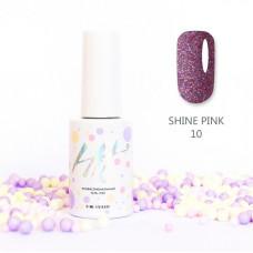 HIT gel Гель-лак №10 Shine Pink, 9 мл