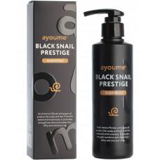 Шампунь для волос AYOUME с муцином улитки BLACK SNAIL PRESTIGE SHAMPOO 240мл