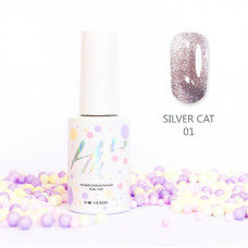 HIT gel Гель-лак №01 Silver cat, 9 мл