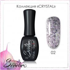 Serebro Гель-лак Crystal №02 11 мл.