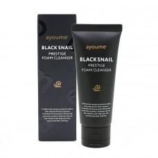 Пенка для умывания AYOUME с муцином черной улитки BLACK SNAIL PRESTIGE FOAM CLEANSER 60 ml