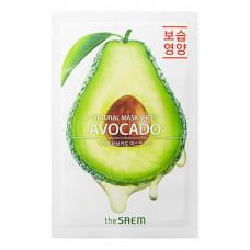 АКЦИЯ -Маска тканевая для лицаThe Saem авокадо NATURAL AVOCADO MASK SHEET