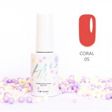 HIT gel Гель-лак №05 Coral, 9 мл