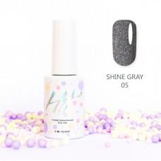 HIT gel Гель-лак №05 Shine Gray, 9 мл
