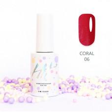HIT gel Гель-лак №06 Coral, 9 мл