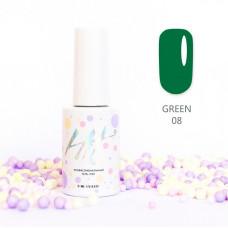 HIT gel Гель-лак №08 Green, 9 мл