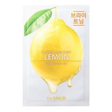 АКЦИЯ -Маска тканевая для лицаThe Saem лимон  Natural Lemon Mask Sheet