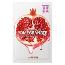 АКЦИЯ -Маска тканевая для лицаThe Saem гранат Natural Pomegranate Mask Sheet
