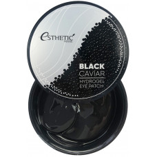 Патчи гидрогелевые для глаз ESTHETIC HOUSE ЧЕРНАЯ ИКРА Black Caviar Hydrogel Eye Patch, 60 шт