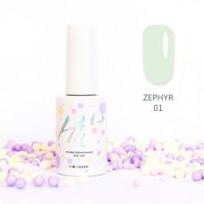 HIT gel Гель-лак №01 Zephir, 9 мл