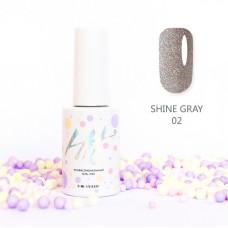 HIT gel Гель-лак №02 Shine Gray, 9 мл