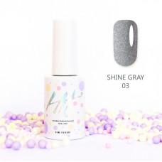 HIT gel Гель-лак №03 Shine Gray, 9 мл