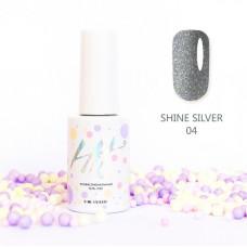 HIT gel Гель-лак №04 Shine Silver, 9 мл